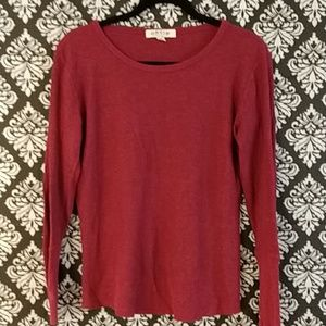 Orvis sz Large ribbed  red long sleeve shirt (458)